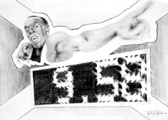 Usain Bolt por Paladino